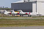 Pel-Air (VH-SLE) Learjet 35, (VH-SLJ) Learjet 36 and (VH-SLF) Learjet 36A parked at Wagga Wagga Airport.jpg