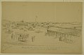 """Pencil Drawing, """"Rolla, Mo., Headquarters of the Army of the Frontier under Command of Gen'l Herron"""" by Alexander Simplot.jpg"""