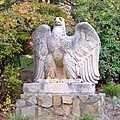 Penn Station Eagle by Weinman, at Ringwood, NJ, on left.jpg