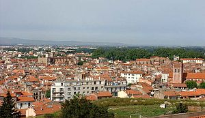 Perpignan - Perpignan seen from the Palace of the Kings of Majorca