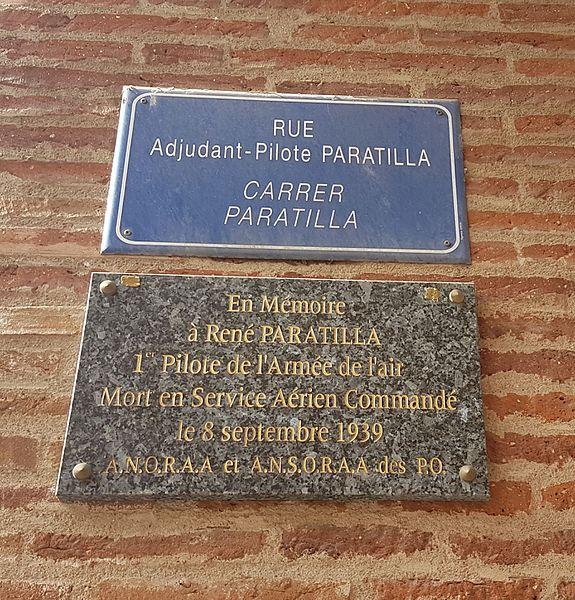 Plaques de la Rue Paratilla à Perpignan