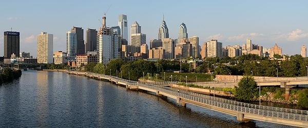 Philadelphia skyline, afternoon