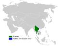 Phylloscopus davisoni distribution map.png