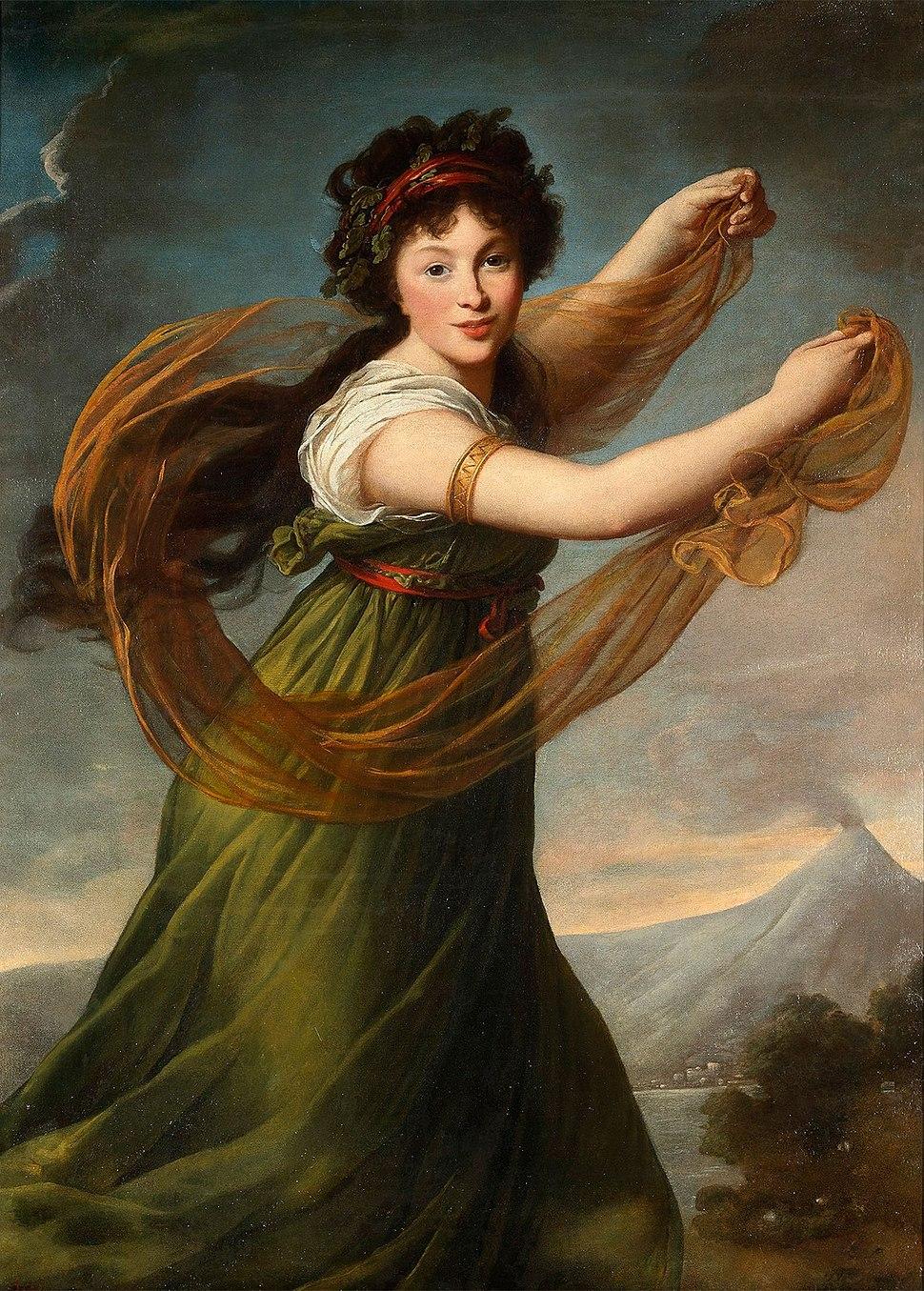 Piełahieja Sapieha (Patockaja). Пелагея Сапега (Патоцкая) (É. Vigée-Lebrun, 1794)