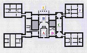 Pavilion - Image: Plan de Holkham Hall