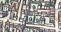 Plan de Paris vers 1530 Braun porte de Chaume.jpg