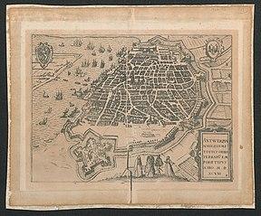 Plan van Antwerpen en de citadel, 1598 (2)