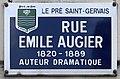 Plaque Rue Émile Augier - Le Pré-Saint-Gervais (FR93) - 2021-04-28 - 1.jpg