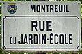 Plaque rue Jardin École Montreuil Seine St Denis 2.jpg