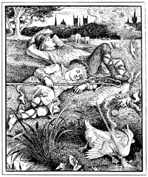 The Remarkable Rocket - Crane's illustration in The Happy Prince and Other Tales (1888)