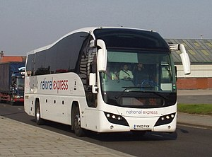 National Express Coaches - Selwyn's Plaxton Elite bodied Volvo B9R in Liverpool