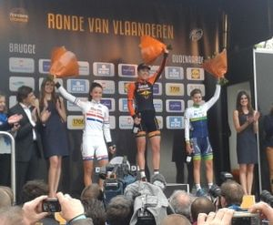 2014 in the Netherlands - Ellen van Dijk won the Tour of Flanders