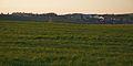 Pohled na obec při západu slunce, Brodek u Konice, okres Prostějov.jpg
