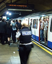 Police Person at Baker Street - Circle Line Party (2540700896).jpg