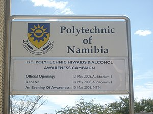 Windhoek West - The Polytechnic of Namibia is based in Windhoek West