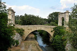 Pont Flavien - Side view of the Pont Flavien