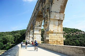 Pont du Gard - Pont du Guard viewed from adjacent bridge