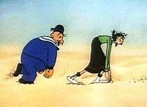 Poldo e Olivia nel cortometraggio Popeye the Sailor Meets Ali Baba's Forty Thieves (1937)