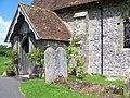 Porch, The Church of St James, Heyshott - geograph.org.uk - 1337939.jpg