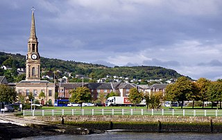 Port Glasgow Town in the Inverclyde council area of Scotland