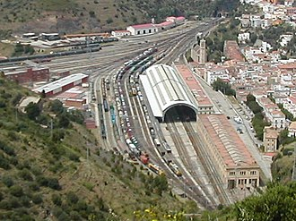 Portbou railway station - Aerial view of the station