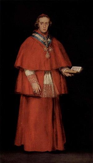 Luis María de Borbón y Vallabriga, 14th Count of Chinchón - Image: Portrait of Cardinal Luis María de Borbón y Vallabriga by Goya