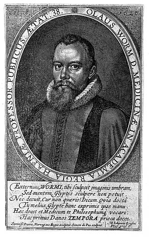 "Ole Worm - Image: Portrait of Ole Worm, ""Fasti Danici"", 1626 Wellcome L0008182"