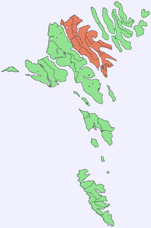 Eysturoy - Image: Position of Eysturoy on Faroe map
