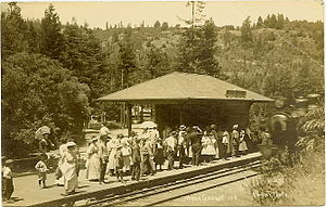 Northwestern Pacific Railroad - Mesa Grande station was served by dual-gauge track.