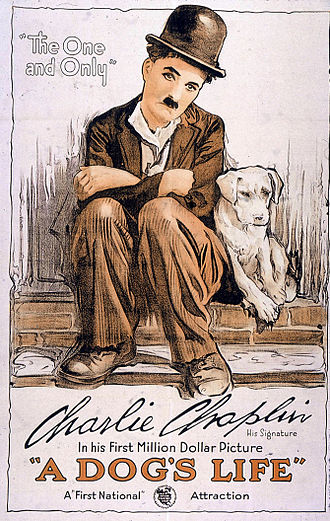 First National Pictures - Poster for A Dog's Life (1918), Charlie Chaplin's first film under his $1 million contract with First National