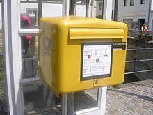 Postkasten Entleerung