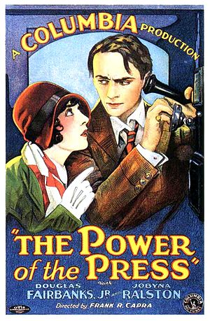 The Power of the Press - Promotional movie poster for the film