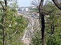 Praha, Zizkov, view from Vitkov hill to new railway track - panoramio.jpg