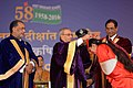 Pranab Mukherjee at the 54th Convocation of Indian Agricultural Research Institute (IARI), in New Delhi. The Union Minister for Agriculture and Farmers Welfare, Shri Radha Mohan Singh, the Secretary (DARE) & DG (ICAR) (1).jpg