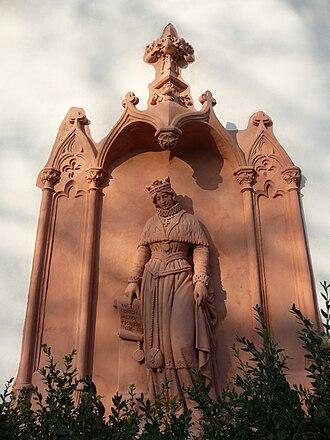 Constance of Hungary - Image: Predklasteri klaster Porta Coeli relief Konstancie Uherska