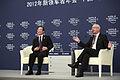 Premier Wen Jiabao and Klaus Schwab 2.jpg