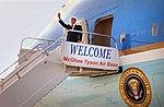 President George W. Bush at McGhee Tyson Air Port Knoxville (7136445461).jpg