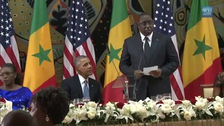 Fichier:President Obama and President Sall of Senegal Exchange Toasts.webm