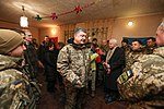 President of Ukraine Petro Poroshenko congratulated Ukrainian warriors on New Year and Christmas and heard the report on the situation in the ATO area, 31 December 2016 (5).jpg