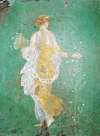 Stabiae - Famous Spring fresco from the Villa Arianna, Stabiae