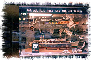 MS Princess of Tasmania - A promotional display for the ship, in a shop window in Melbourne in 1960