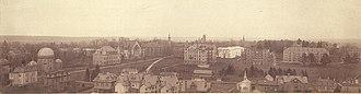 History of Princeton University - A Panoramic View Princeton's Campus c1895