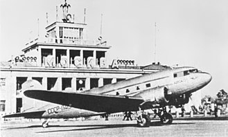 Aeroflot - An Aeroflot PS-84 (a Douglas DC-3, modified by fitment of Soviet engines) at Moscow City Airport in 1940. The Lisunov Li-2, a license-built version of the DC-3, would become the backbone of the fleet after the Great Patriotic War.