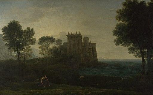 Psyché devant le palais de l'Amour - Claude Gellée