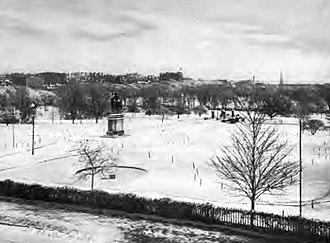 Public Garden (Boston) - Image: Public Garden in Winter 1901