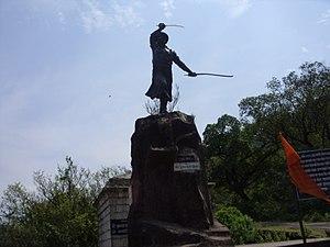 Purandar fort - Statue of Murarbaji Deshpande