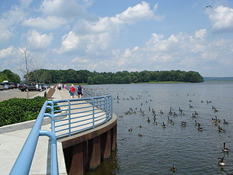 Pymatuning Reservoir - Pymatuning Reservoir, seen from the Spillway, Linesville, PA
