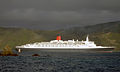 QE2 departing Wellington, New Zealand, 12 Feb. 2006.jpg