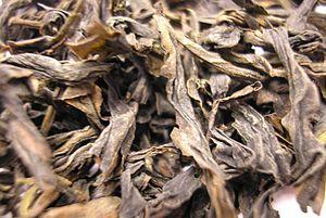 Qilan tea - Image: Qi Lan Oolong tea leaf close