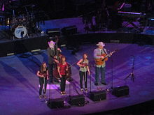 Quebe Sisters band at Alamodome, San Antonio, TX IMG 7614.JPG